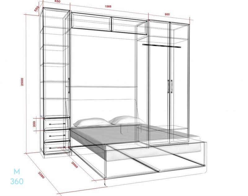 Шкаф кровать на заказ. Фото 1