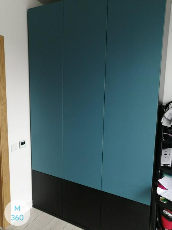 Синий распашной шкаф Надежда Арт 001980068