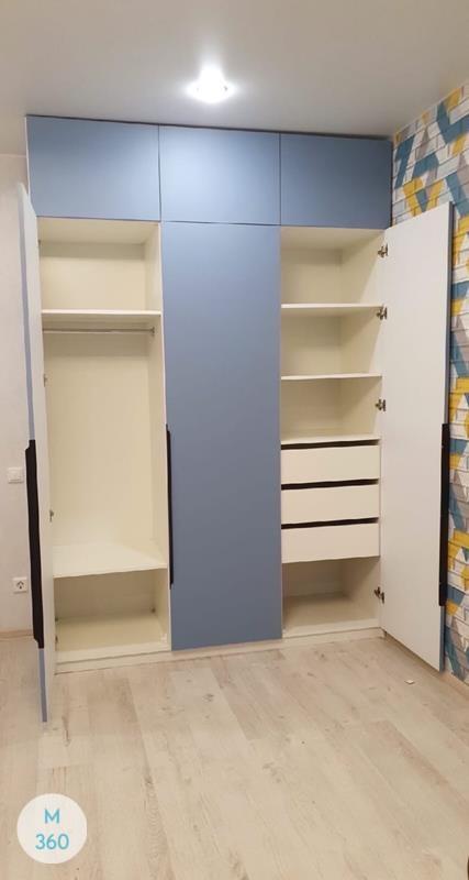 Синий распашной шкаф Калеб Арт 002272760