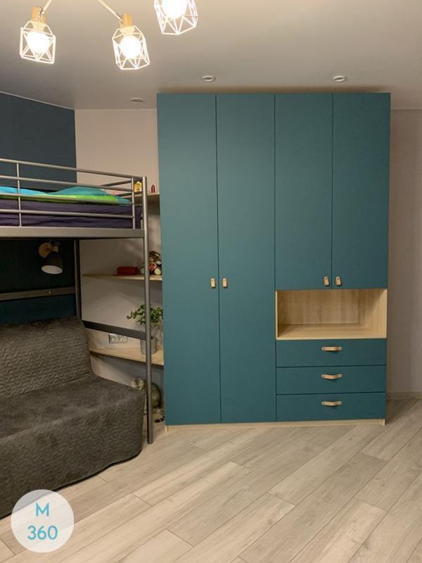 Синий распашной шкаф Хайльбронн Арт 002831818