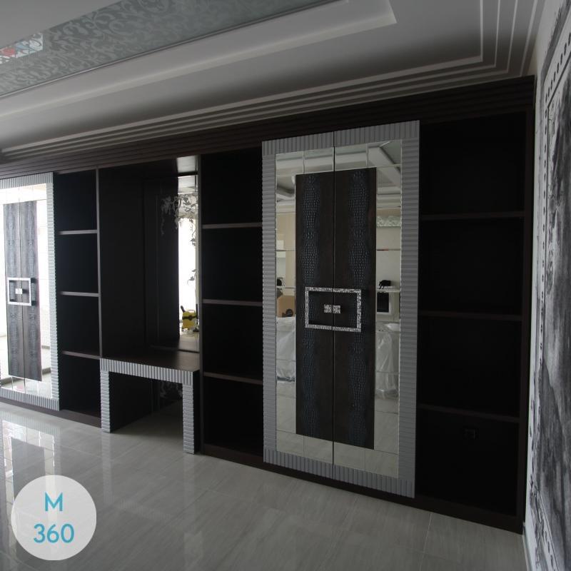 Черный распашной шкаф Ромео Арт 003895644