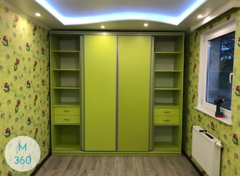 Зеленый шкаф купе Оаэ Арт 004998273