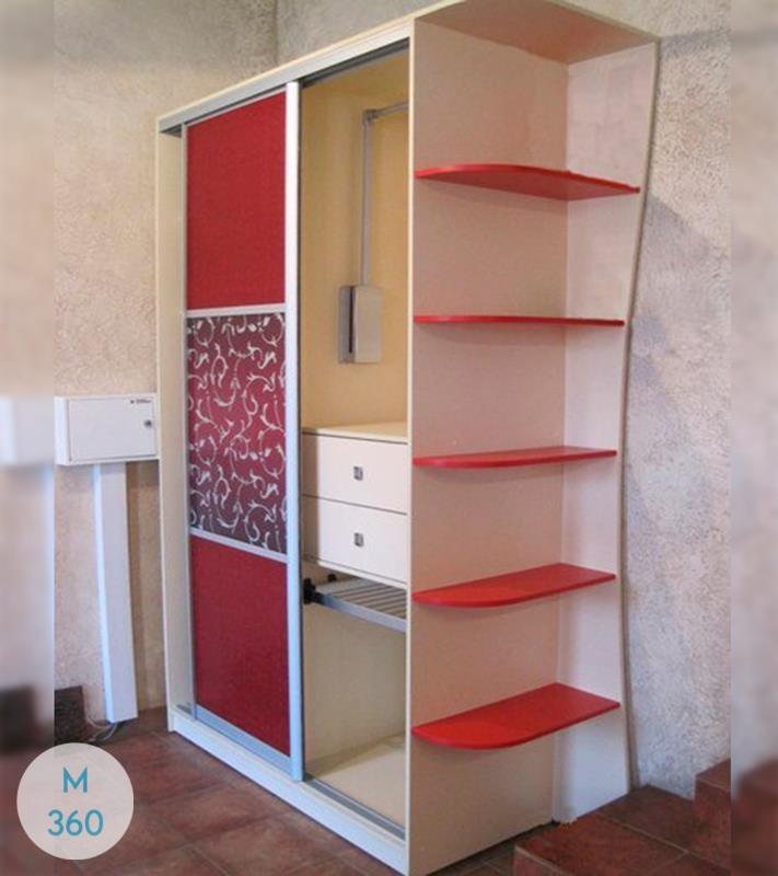 Красный шкаф купе Ишим Арт 007050507