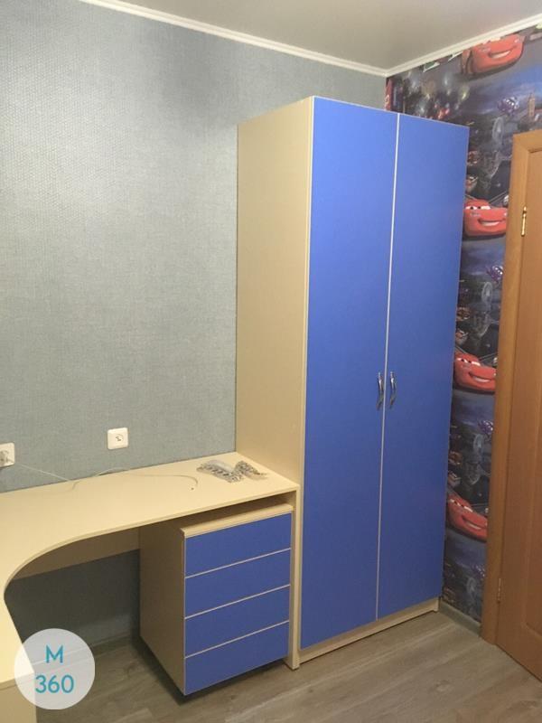 Синий распашной шкаф Копенгаген Арт 008047815