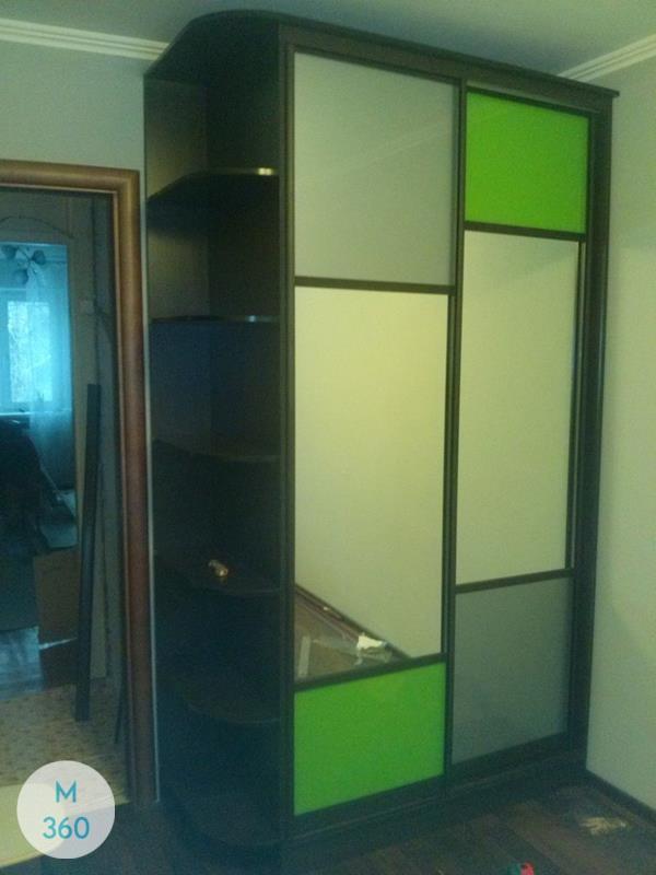 Зеленый шкаф купе Алла Арт 009558603