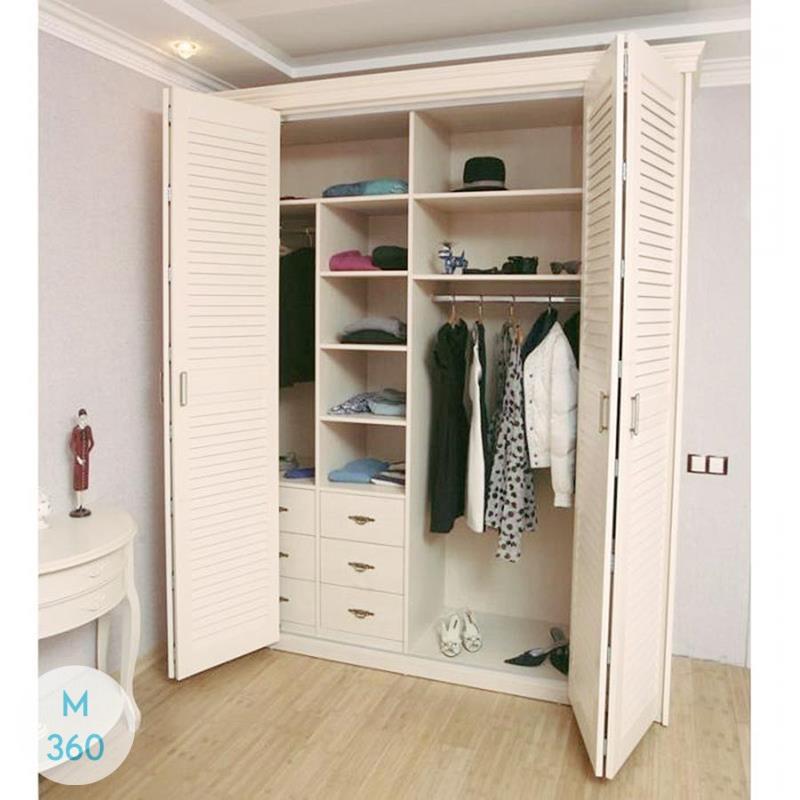 Шкаф с жалюзийными дверцами Кипр Арт 009630850