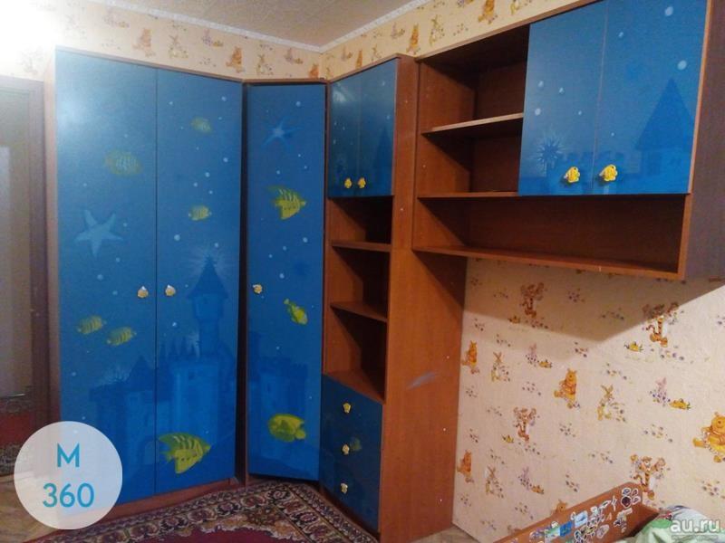 Синий распашной шкаф Геленджик Арт 009937457